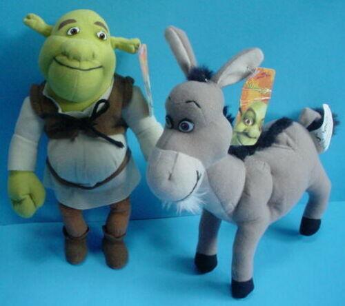 Shrek 2 The OGRE & DONKEY Plush Dreamworks 2004 Nanco New w Tags Stuffed Toy Lot