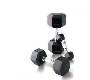 AmStaff Rubber Coated Hex Dumbbells - Brand New