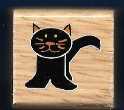 CAT WHISKERS TAIL HALLOWEEN HOLIDAY GIFT Tag Craft Wood SMALL RUBBER STAMP ](Small Halloween Gift Tags)