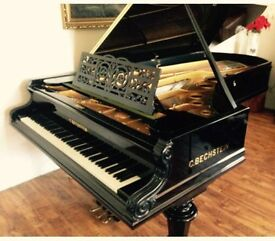 C. Bechstein grand piano from 1888 and 2.70 fully tuned and polished rare collectors