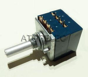 Japan-ALPS-RK27-VOLUME-Potentiometer-Dual-50K-50KAX2-Slotted