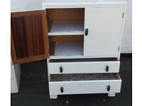Shabby Chic painted vintage two drawer cabinet