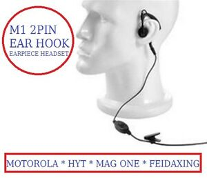 Earpiece Headset 4 Motorola HYT Mag one Ham Radio Walkie-Talkies