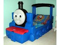 Toddler Thomas the tank engine bed with mattress