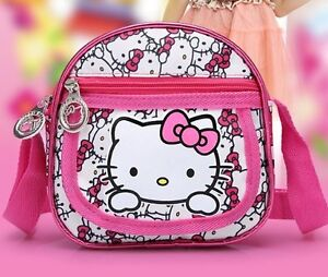 Kids Girls Hello Kitty Cross Body Bag Shoulder Carry Mini Messenger Backpack New