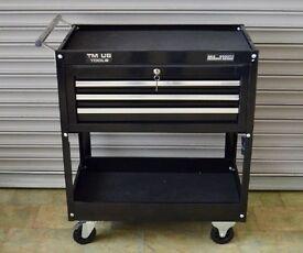 TM US 3 Drawer Mechanics Tool Cart Trolley