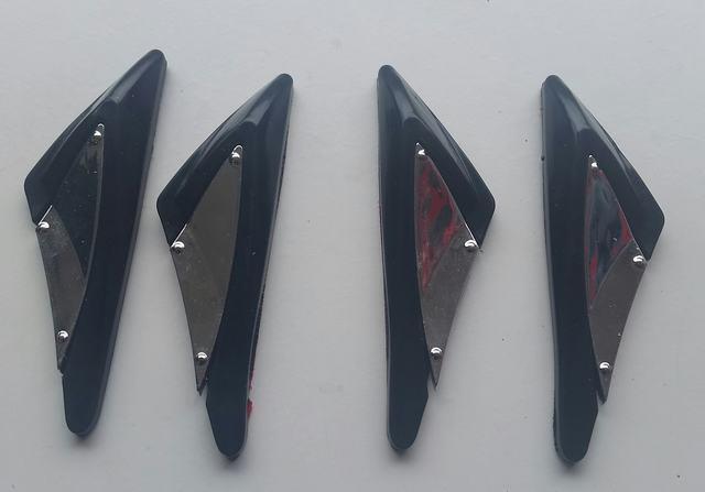 Black Rubber Door Boot Guard Protectors CHROME Insert (DG2A) MC17/10