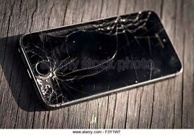 iphone 5s 16gb space grey, Crack up screen - fully working.