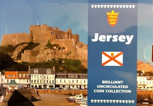 Bailiwick of JERSEY - (9) coin Uncirculated Mint Set - 1997 - Royal Mint - OGP