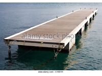 Mooring Jetty Or Pontoons For Sale. Boats Jet ski Out Board Water Sea Float Dock Barge Pontoon