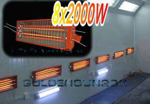8 Sets 2kw Spray Baking Booth Infrared Paint Curing Lamp