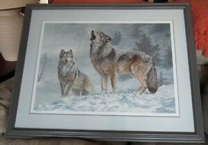 "Rare Collectable Ltd Print Jorge Mayol Gray Wolves ""Solo Singer"