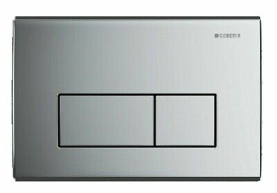 New boxed Geberit Kappa50 115.260.21.1Dual Flush Plate actuator Gloss Chrome
