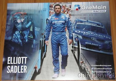 2014 Elliott Sadler One Main Financial Toyota Camry Nascar Nationwide Postcard