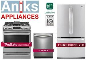 https://aniks.ca/ LG Studio Kitchen Appliance Package Blow Out Door
