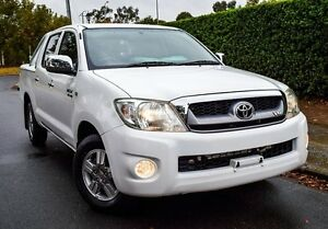 2009 Toyota Hilux GGN15R MY09 SR5 White 5 Speed Automatic Utility Medindie Walkerville Area Preview