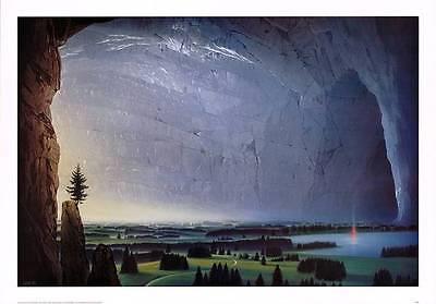 Hans Werner Sahm Ruhepol Poster Kunstdruck Bild 70x100cm
