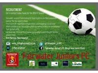 Fairwater Juniors u6 Football