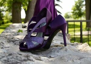 Amathyst/Deep Purple Shoes and Clutch