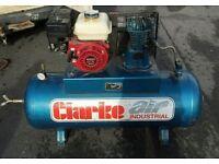 Honda Engine 6.5hp Petrol Air compressor 150l Clarke
