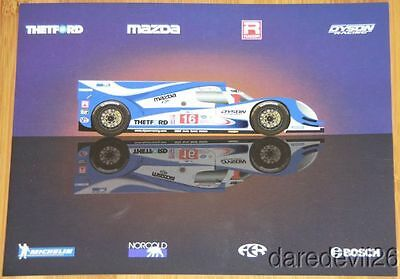 2013 Dyson Racing Mazda Lola P1 12 Hours of Sebring ALMS postcard
