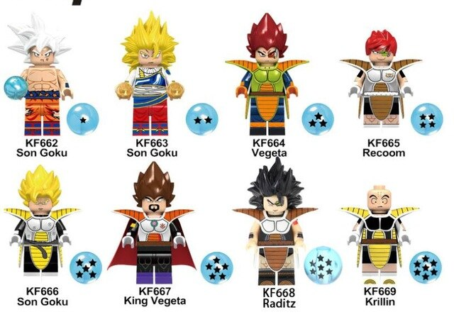 Count:8pcs-5:32pcs Dragon Ball Z Action Figure Super Goku Building Blocks For Lego Toy Heroes