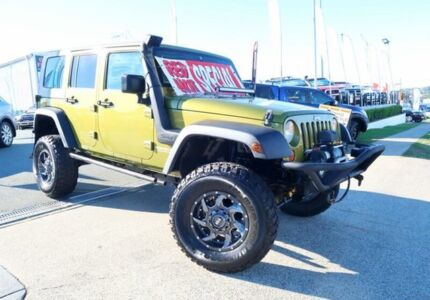 2007 Jeep Wrangler JK Unlimited Sport Green 4 Speed Automatic Softtop