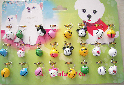24PCS Pet Dog Cat Animal Collar Bell Accessories Wholesale Lots Set