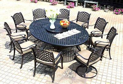 Nassau Patio - Patio dining set Cast Aluminum outdoor Nassau furniture 12 piece all weather