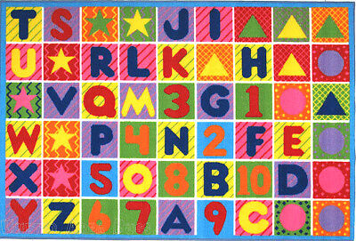 43  X 66  Abc Area Rug Kids Educational Alphabet   Numbers Design Colorful 5X7