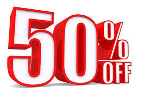 50% OFF SCRATCH AND DENT INTERIOR DOORS!