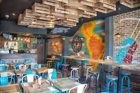 Bar & Floor Staff required for a dynamic Latin American restaurant in Clapham North
