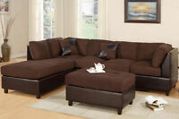 Microfiber Sectional with reversible chaise!  NEW!