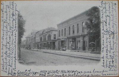 1905 Postcard  Downtown Street View Clearfield  Pa Penn
