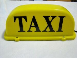 illuminated roof top taxi cab sign light magnetic yellow. Black Bedroom Furniture Sets. Home Design Ideas