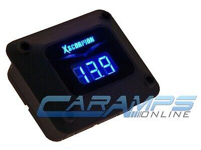 NEW BLACK XSCORPION BLUE LED CAR STEREO DIGITAL VOLTAGE METER AMP 12 VOLT POWER