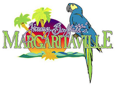 """Margaritaville Jimmy Buffetts Vinyl Sticker Decal 10"""" (full color)"""