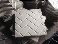 Block paving effect concrete slabs 35ml thick