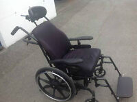 "WHEELCHAIL ORION II/FUTURE MOBILITY, 18""(D) x 17""(H) x 18""(W)."