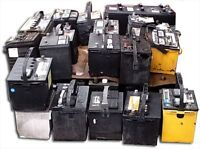 free pick up of old car batteries