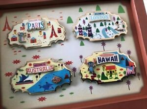 BRAND NEW DISNEY Around The World 4 Pin Collection