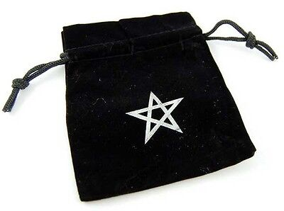 Rune Runes Bag Crystal Stones Pouch Tarot Gift Pentagram Velvet Embroidered NEW