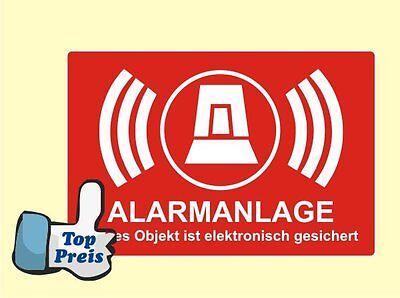 10 x Stück Sticker Aufkleber Alarmanlage Alarm gesichert Alarmaufkleber Stop