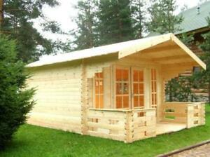 JANUARY Blow out sale - Swiss chalet style Solid Pine Tiny Timber House, garden shed,bunkie.