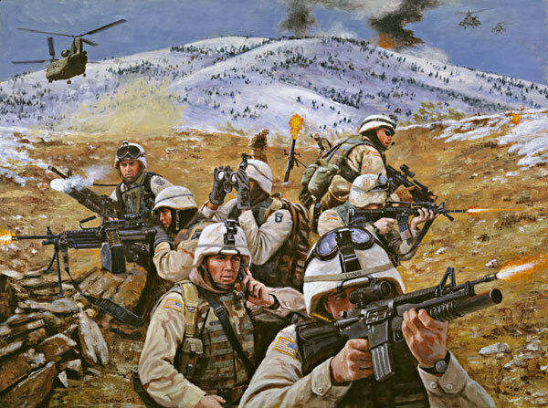 """/""""Brothers in Battle/"""" Don Stivers Signed Artist Proof Print Operation Anaconda"""