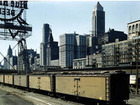 "11 x 14/""  Photo Print Chicago Ill Illinois Central Railroad freight terminal"