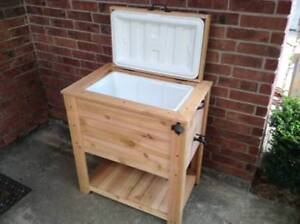 Wooden Rustic Patio Cooler (single and double)
