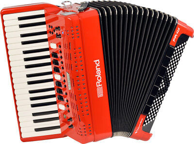 Accordion Roland FR-4X RD Red BAG-FR3 Charger set solo performance from Japan