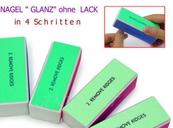 glänzende Fingernägel Nagel Nail Toe Tips Fussnägel  in 4 Schritten ohne Lack