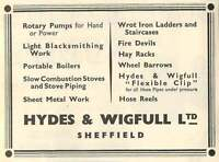 1953 Hydes Wigfull Sheffield Blacksmithing Ad -  - ebay.co.uk